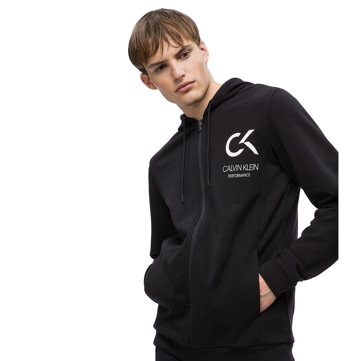 Felpa con cappuccio e zip integrale Calvin Klein rif. 00GMF8J410