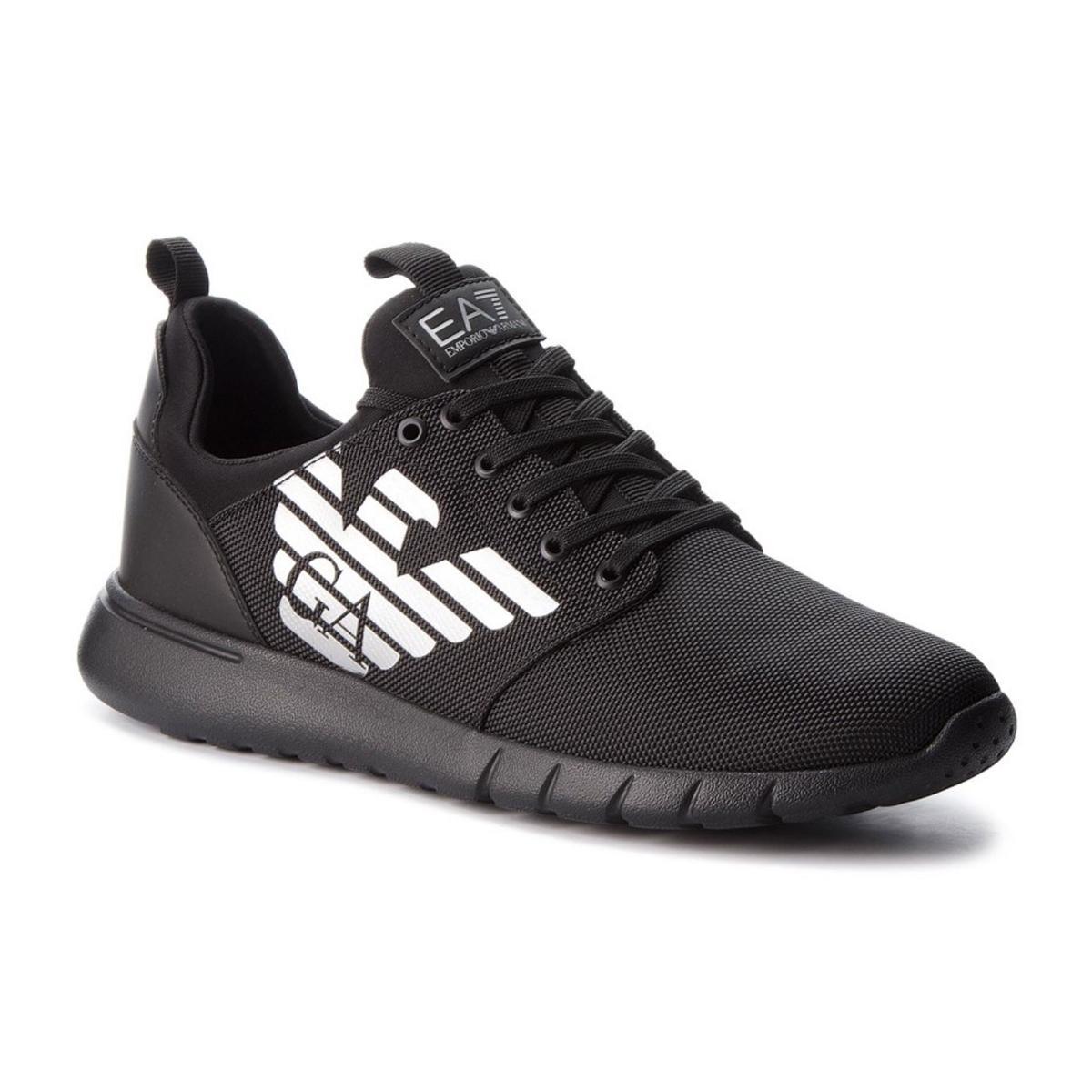 Scarpe Sneaker EA7 Emporio Armani Ecopelle Black X8X008 XK008 00002 Uomo