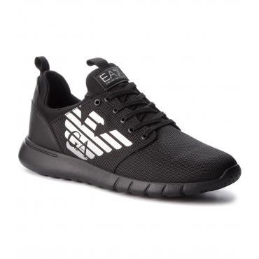 Scarpe Sneaker EA7 Emporio Armani Ecopelle Black da Uomo Rif. X8X008 XK008 00002