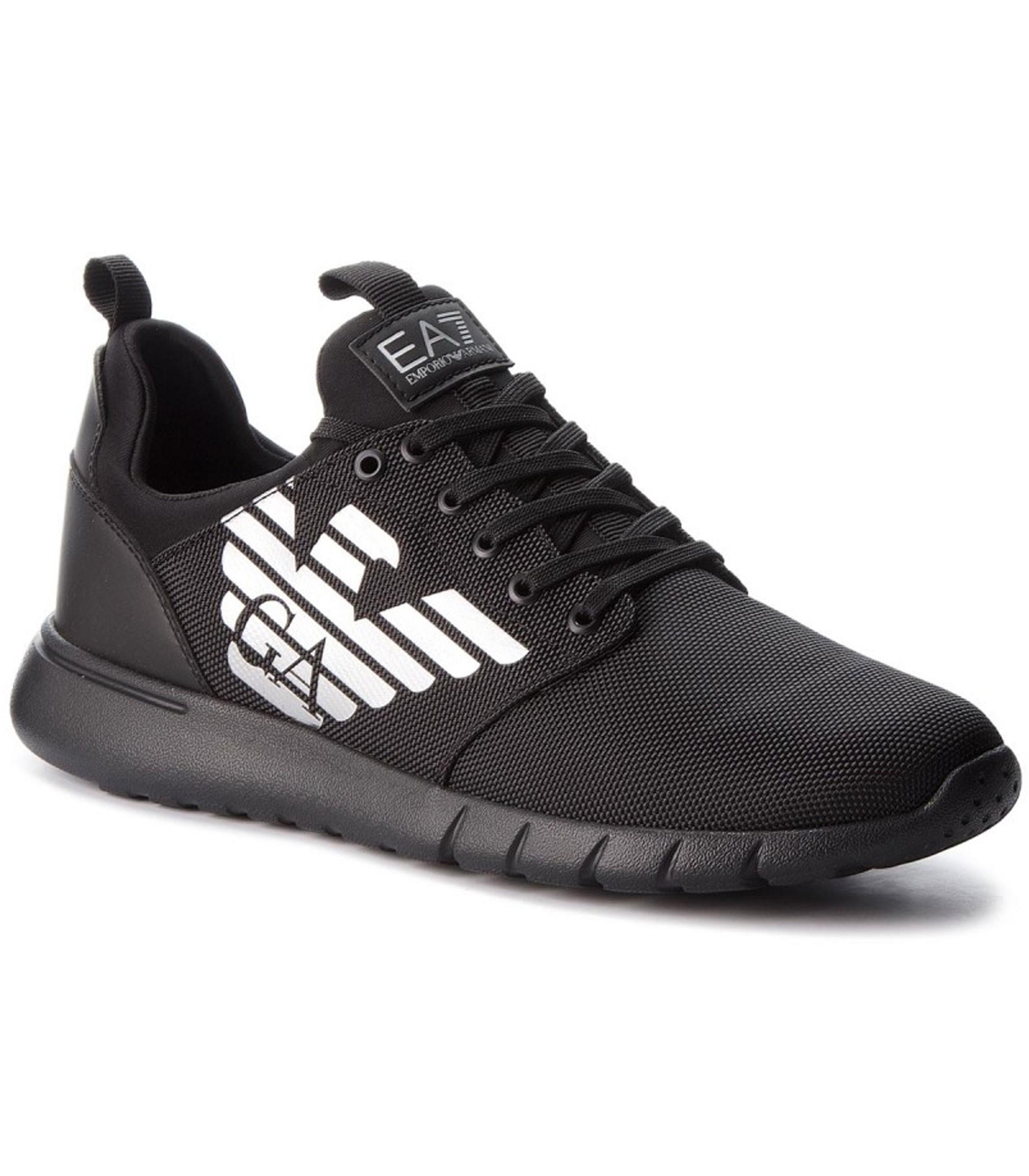 Scarpe Sneaker EA7 Emporio Armani Ecopelle Black X8X008 XK008 00002 Uomo ... 45b5830f89c