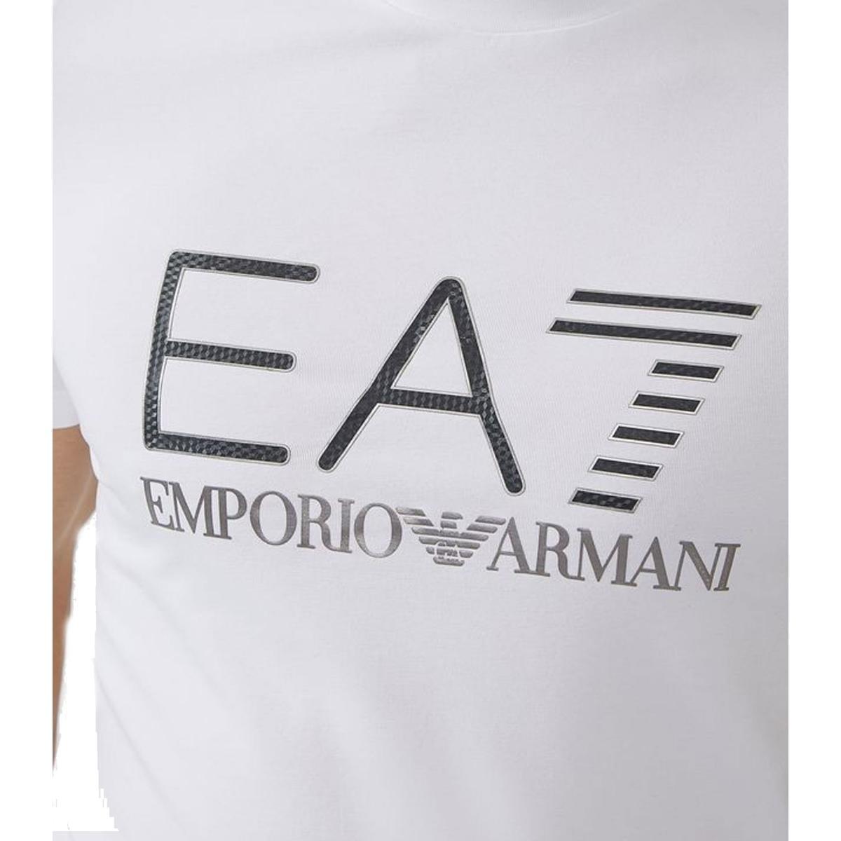 T-shirt in cotone stretch con logo EA7 Emporio Armani uomo rif. 6ZPT25PJ20Z1100