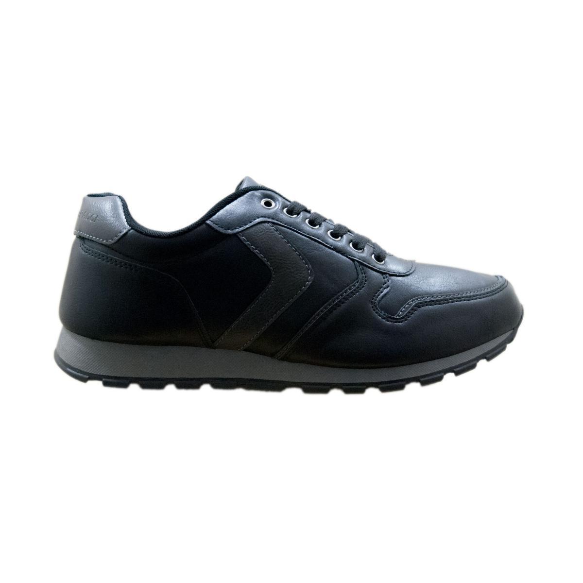 Scarpe sneakers da uomo a collo alto Baci e Abbracci con inserti in pelle scamosciata