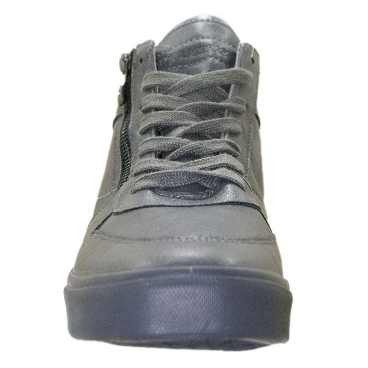 Scarpe sneakers da uomo a collo alto Baci e Abbracci con cerniera
