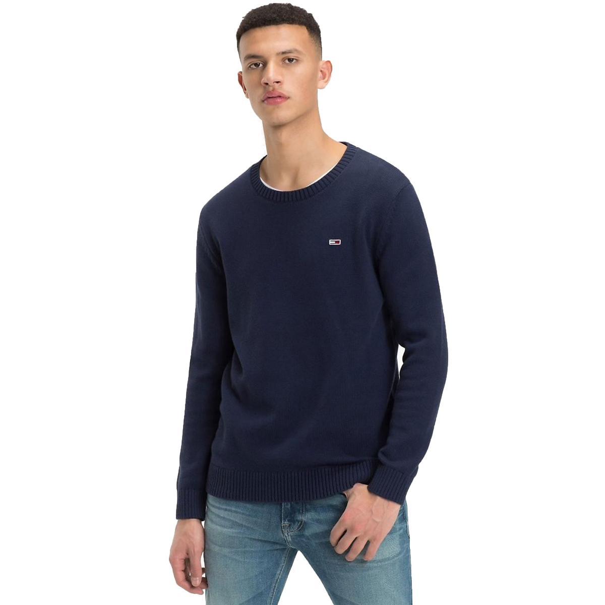 Pullover Tommy Hilfiger Jeans Classics in maglia da uomo rif. DM0DM05068
