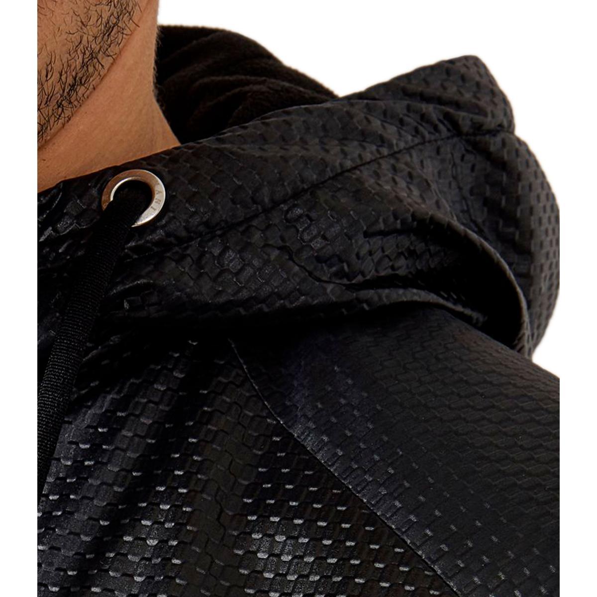Giacca a Vento Emporio Armani EA7 con cappuccio tessuto tecnico piquet