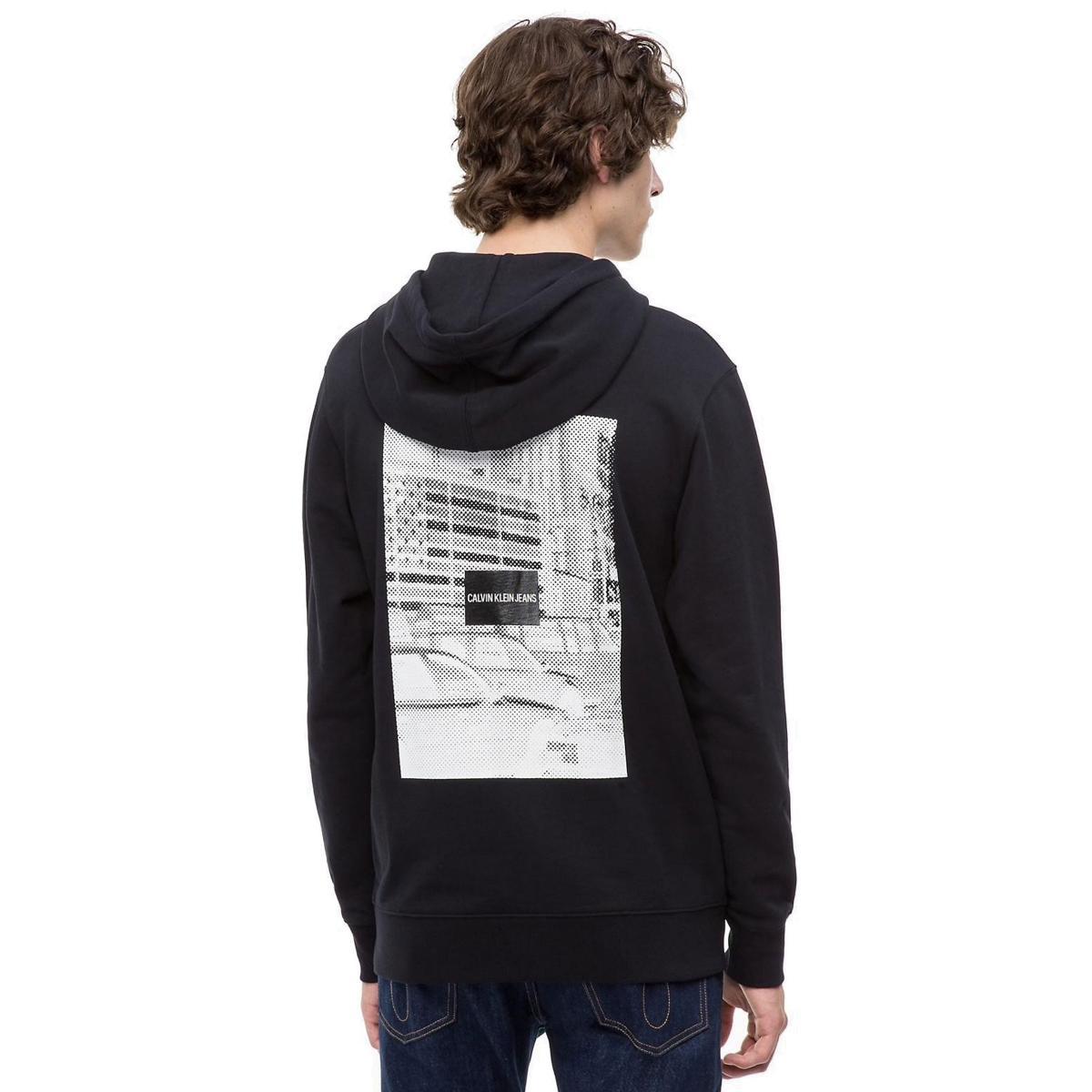 Felpa con cappuccio stampata Calvin Klein Jeans da uomo rif. J30J309507