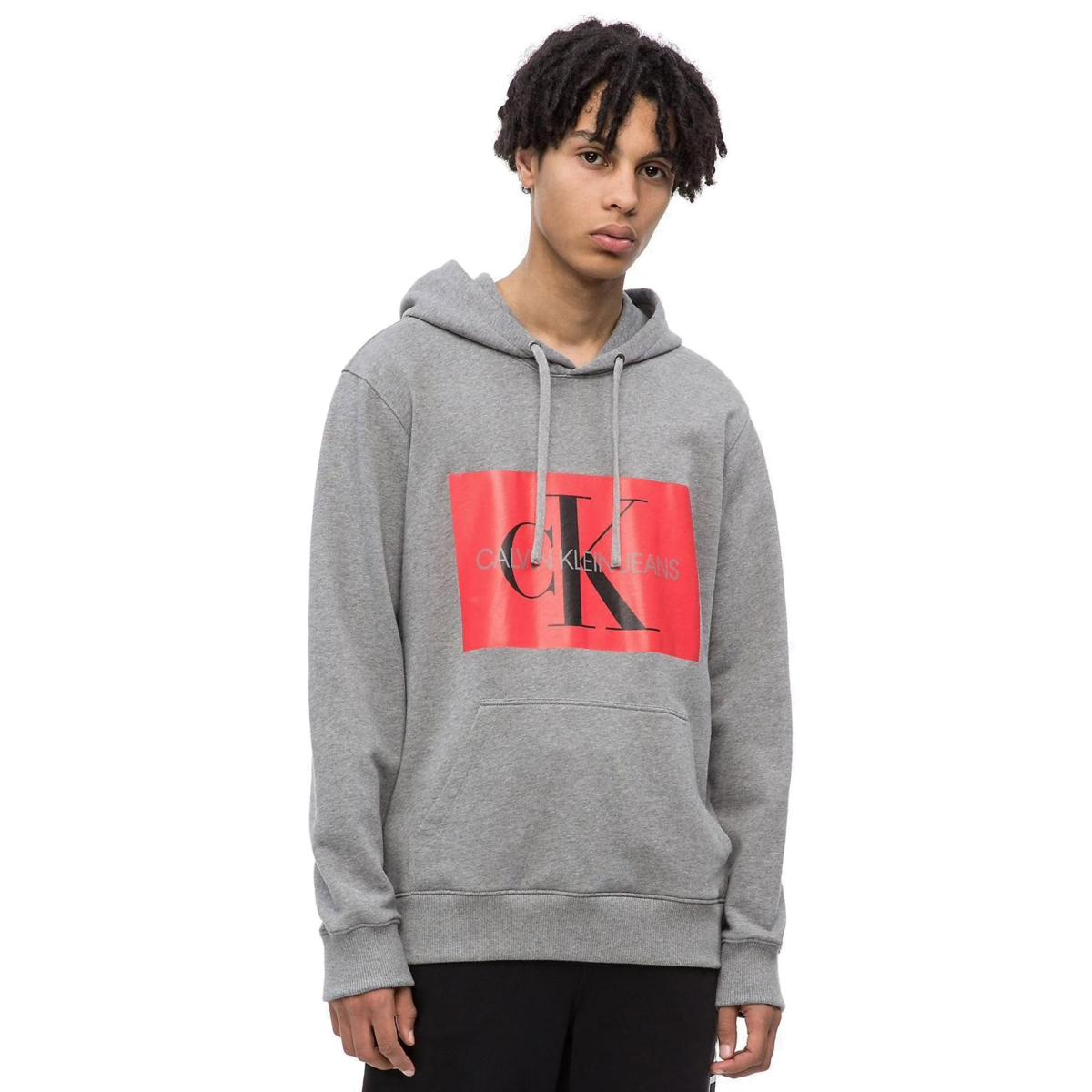 Felpa con cappuccio e logo Calvin Klein Jeans da uomo rif. J30J307745