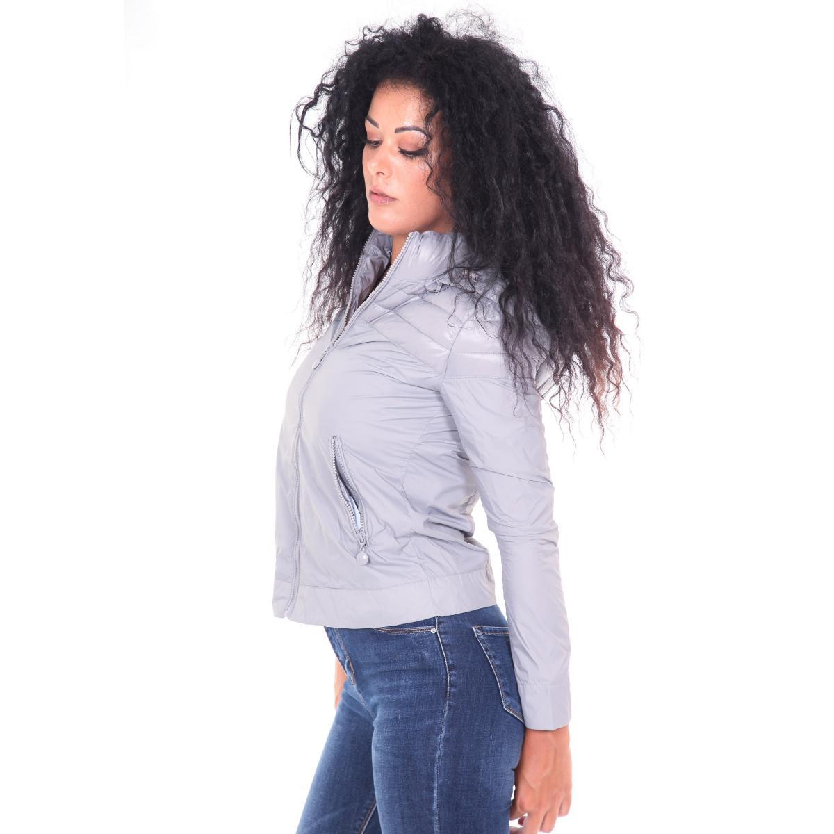 Piumino moda 100 grammi con cappuccio - donna