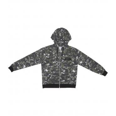 Felpa ADALET con zip e cappuccio camouflage militare unisex rif. AD017