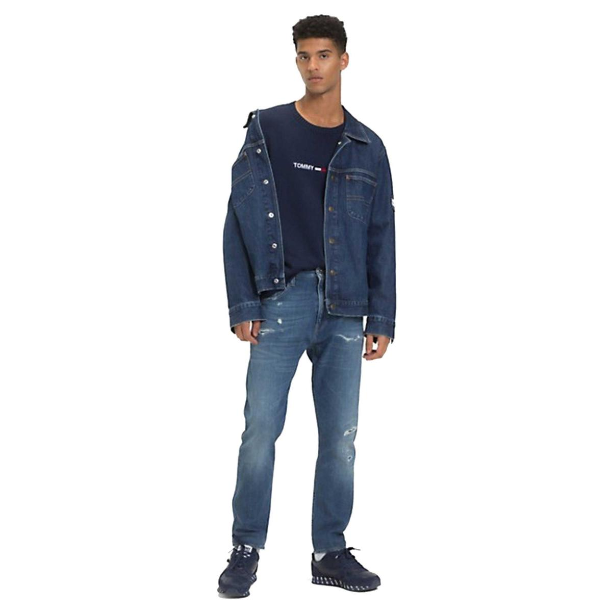 Giacca giubbotto Tommy Jeans Oversize Trucker SL da uomo rif. DM0DM05824