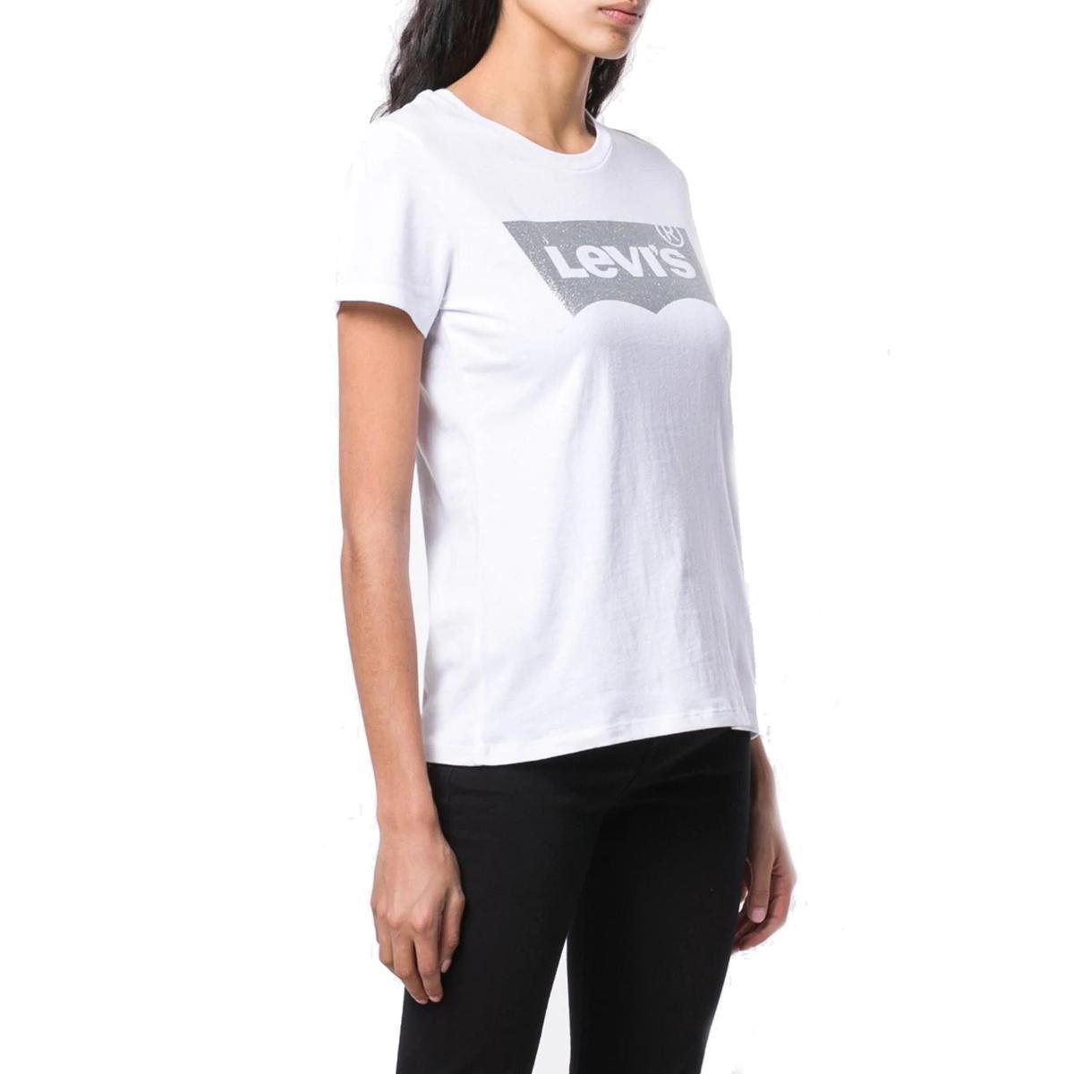 T-shirt con logo Levi's con glitter da donna rif. 17369-0484