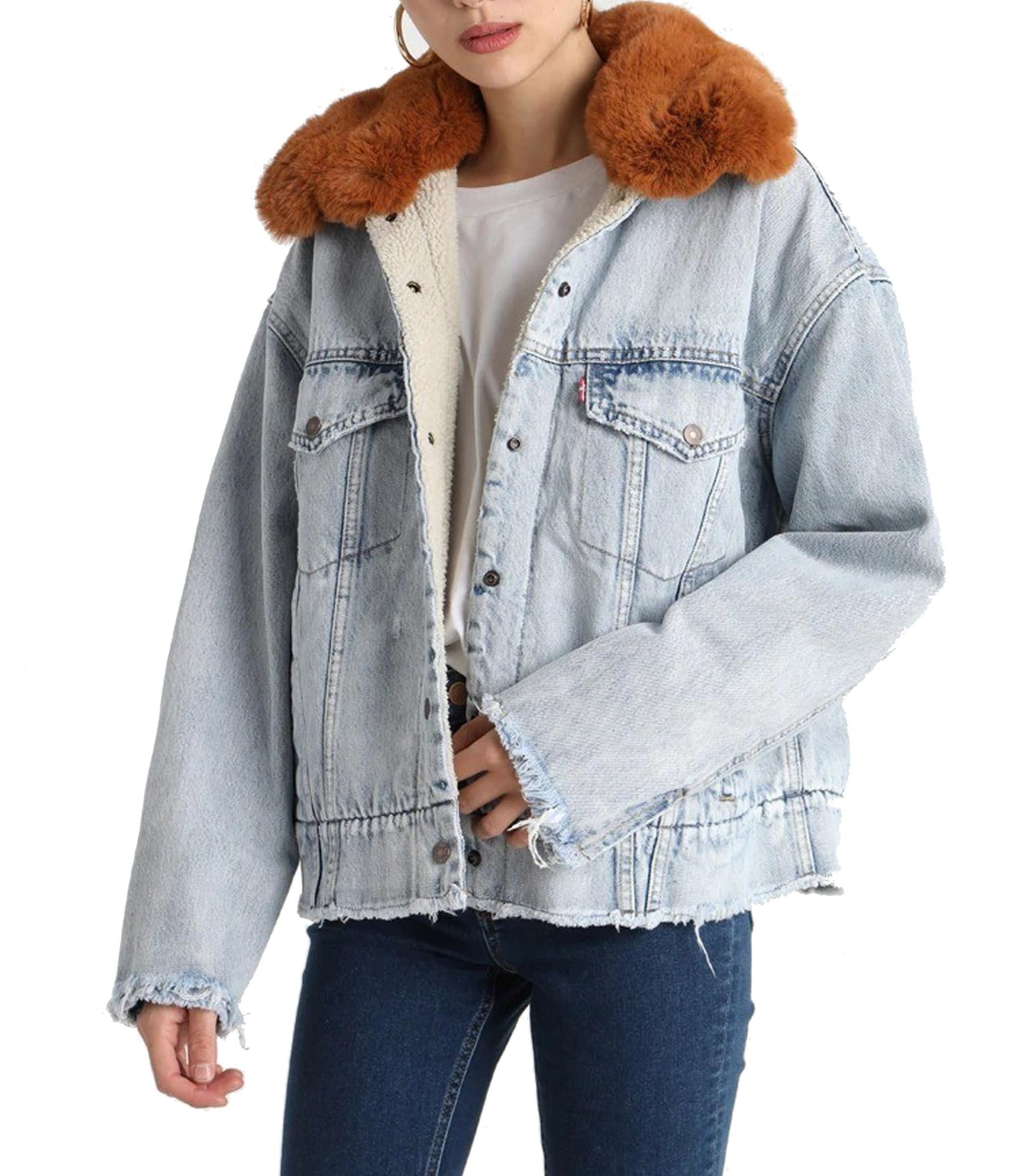 new product 3f14e 2388b Giacca Levi's Oversized Sherpa Trucker di jeans donna rif ...