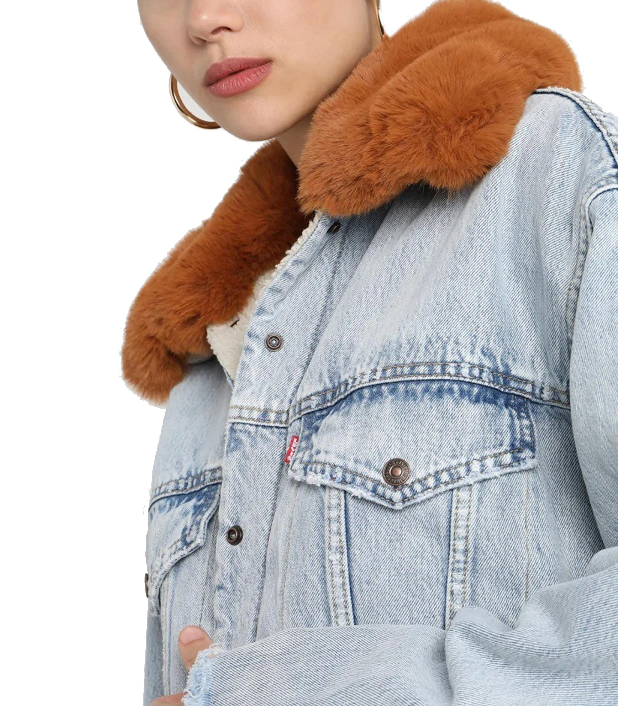 new product 289ea 479d3 Giacca Levi's Oversized Sherpa Trucker di jeans donna rif ...