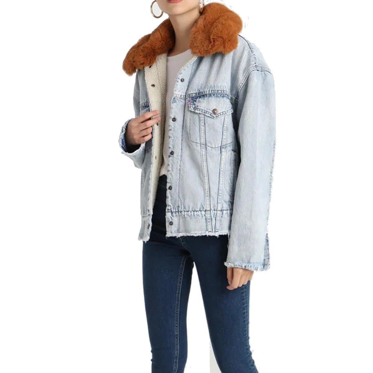Giacca Levi's Oversized Sherpa Trucker Jacket di jeans da donna rif. 57896-0000