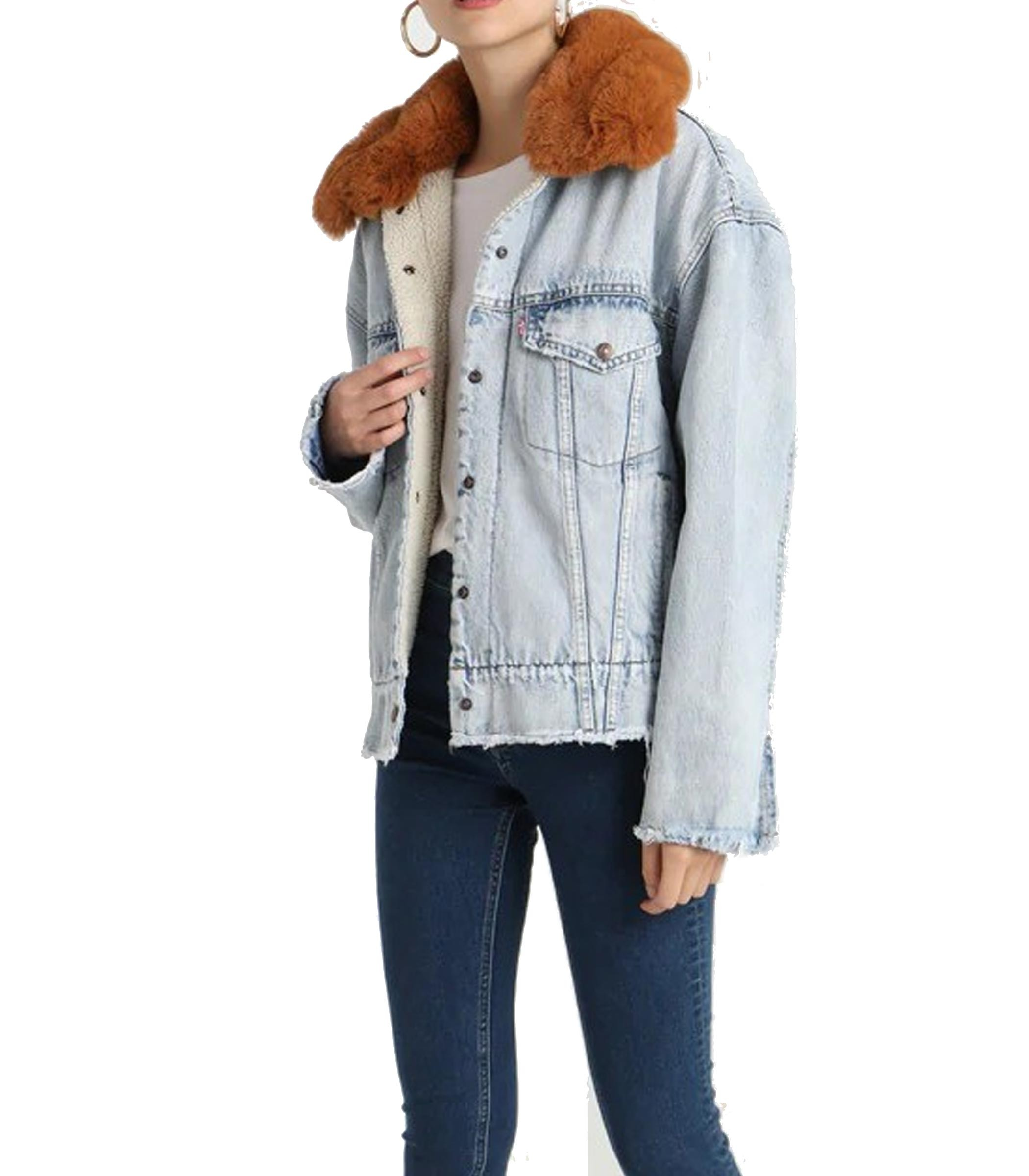 new product 34063 7db67 Giacca Levi's Oversized Sherpa Trucker di jeans donna rif ...
