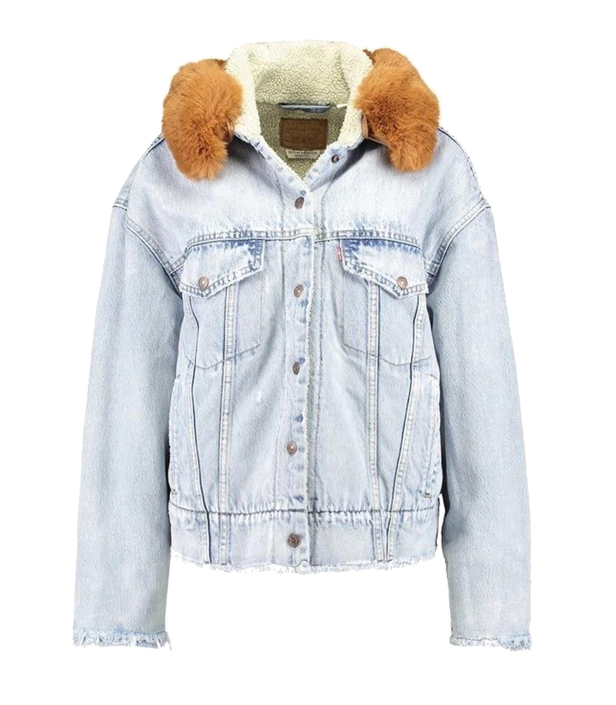 new product 198e7 98ebb Giacca Levi's Oversized Sherpa Trucker di jeans donna rif ...