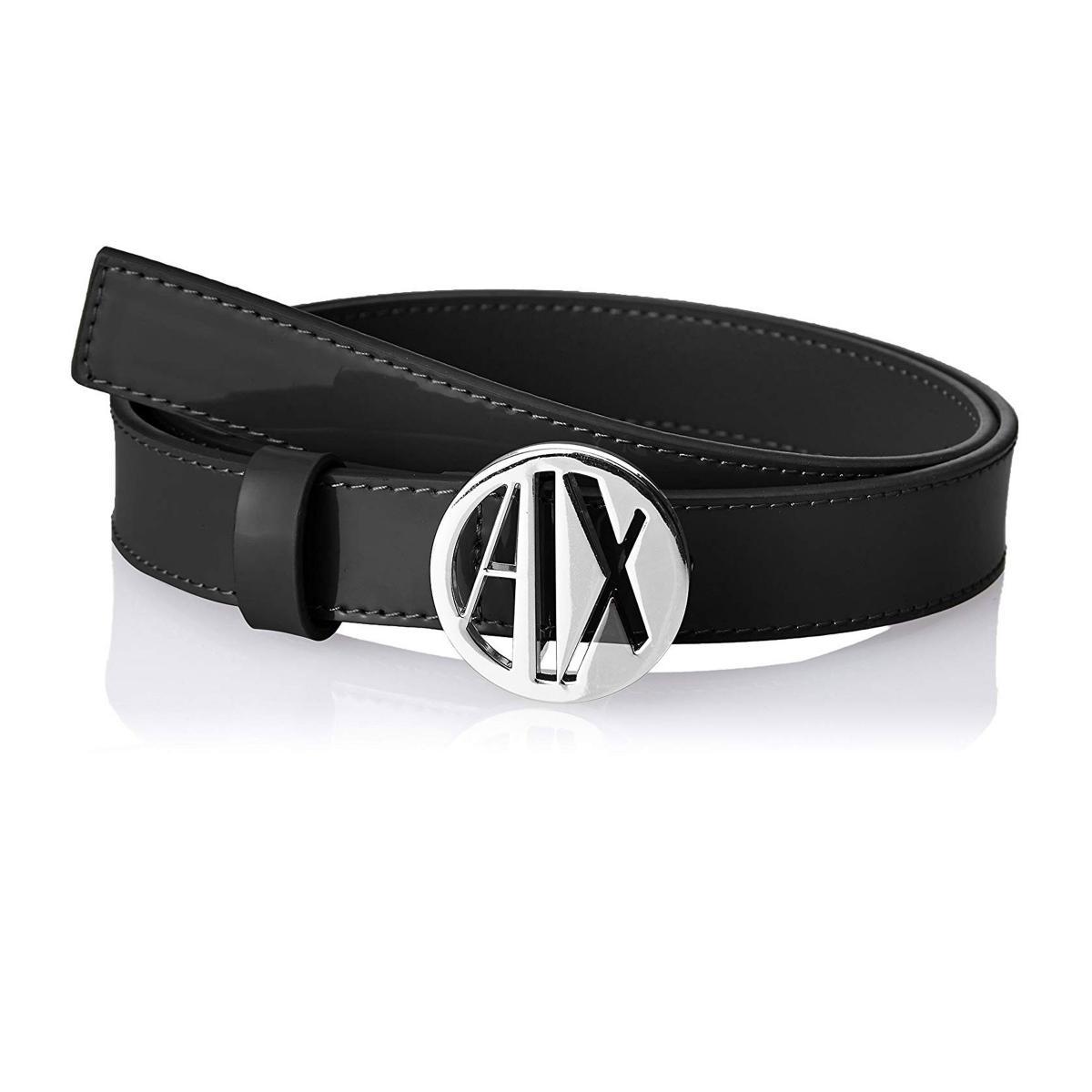 Cintura Armani Exchange in vernice con logo circolare da donna rif. 941038 CC713