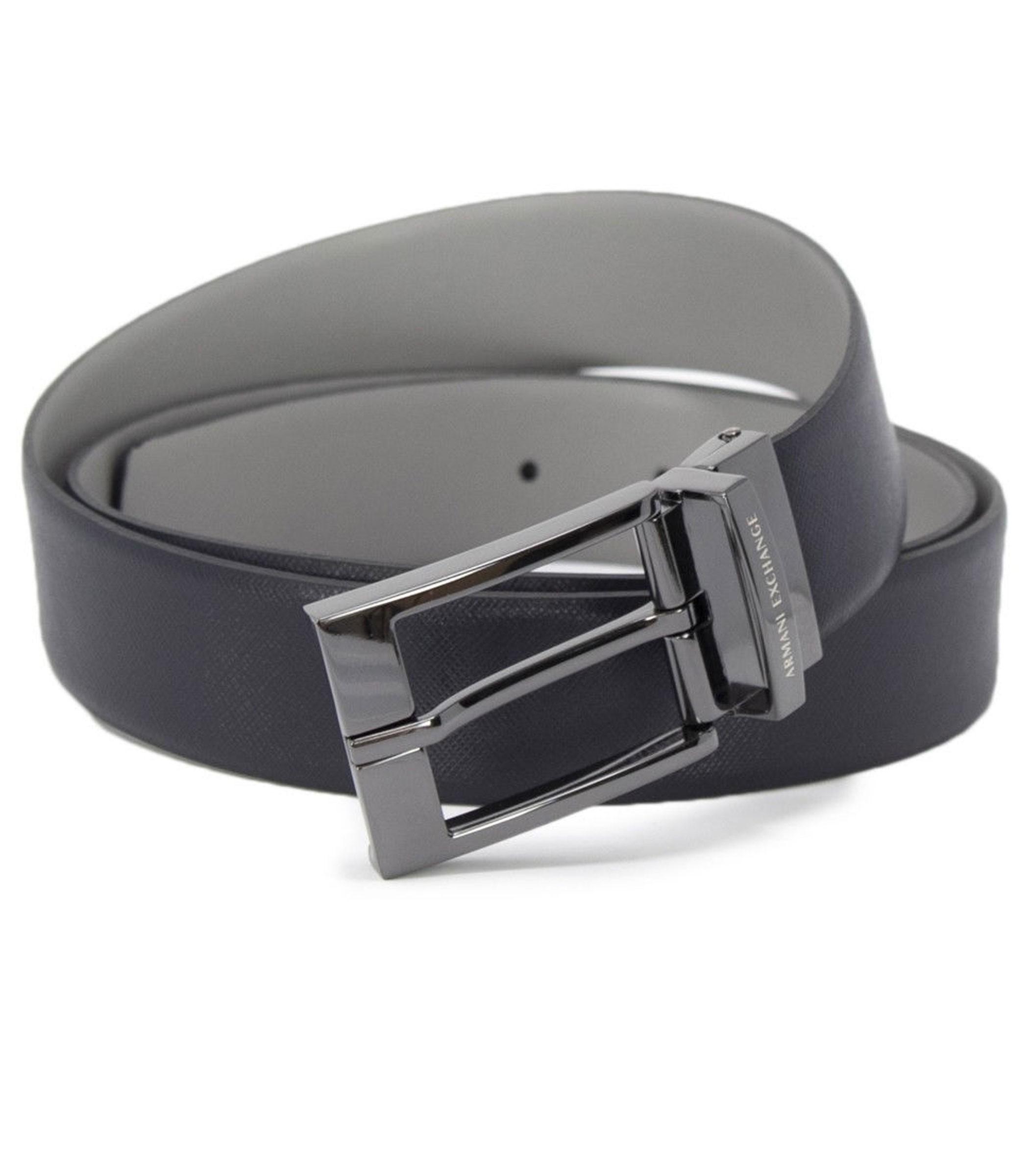 marchio popolare ultima moda design raffinato Cintura Armani Exchange reversibile con logo uomo rif. 951060 CC236