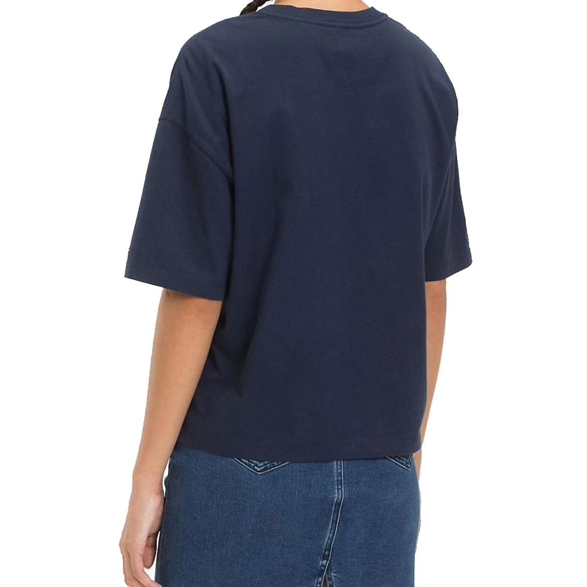 T-shirt Tommy Jeans squadrata con stampa da donna rif. DW0DW05711