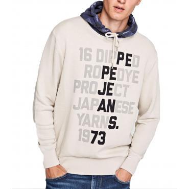 """Felpa con cappuccio e stampa Pepe Jeans """"Cooper"""" da uomo rif. PM581489"""