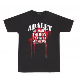 "T-shirt ADALET ""SO MANY THINGS"" nera unisex rif. AD027"