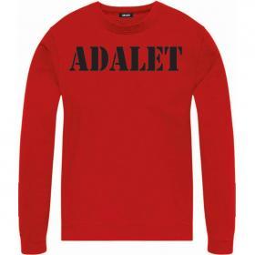 Felpa ADALET con stampa girocollo unisex rif. AD002