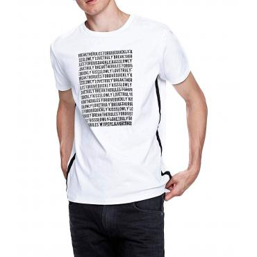 """T-shirt girocollo con stampa e bande laterali Pepe Jeans """"Tope"""" da uomo rif. PM506014"""