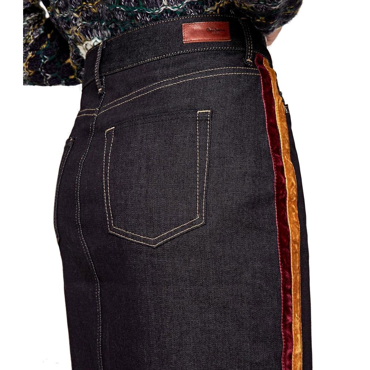 "Gonna in tessuto denim elasticizzato Pepe Jeans ""Dina Velvet Tape"" rif. PL900770"