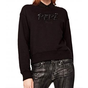 """Felpa girocollo con logo ricamato Pepe Jeans """"Sofi"""" da donna rif. PL580763"""