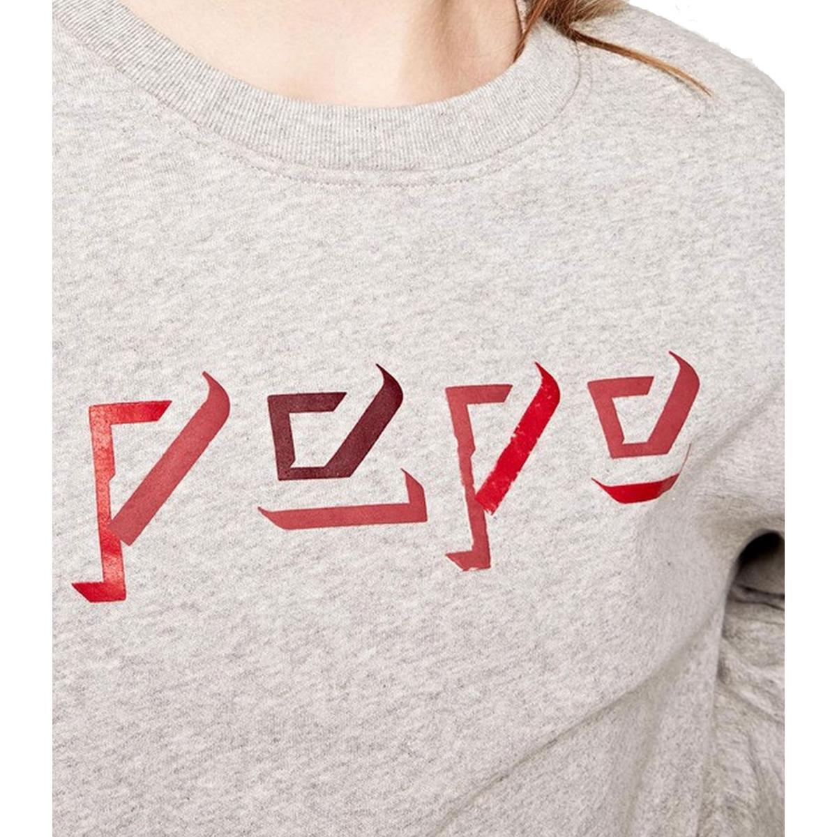 "Felpa girocollo con logo Pepe Jeans ""Robin"" da donna rif. PL580762"