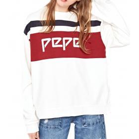 "Felpa girocollo con logo Pepe Jeans ""Frankie"" da donna rif. PL580753"