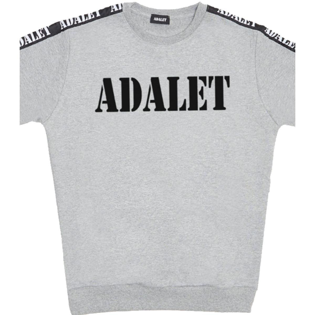 Felpa ADALET con stampa e bande laterali unisex rif. AD021