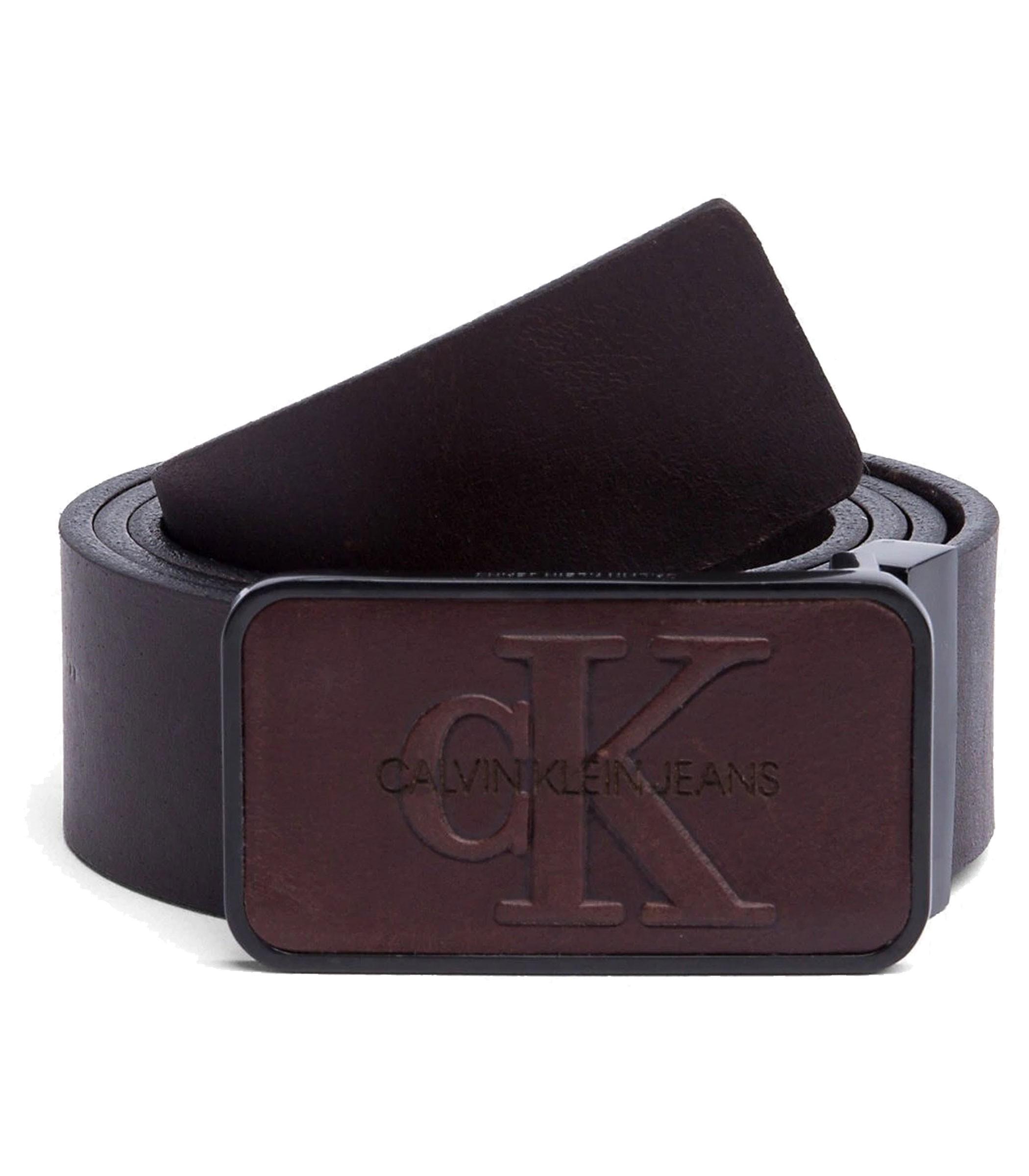 taglia 40 506c0 c8062 Cintura Calvin Klein Jeans con placca monocromatica da uomo rif. K50K504167
