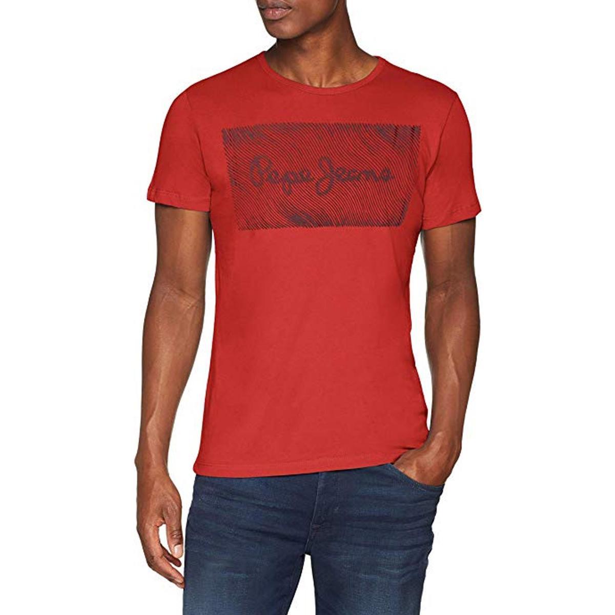"""T-shirt girocollo con stampa logo Pepe Jeans """"Cipri"""" da uomo rif. PM505939"""