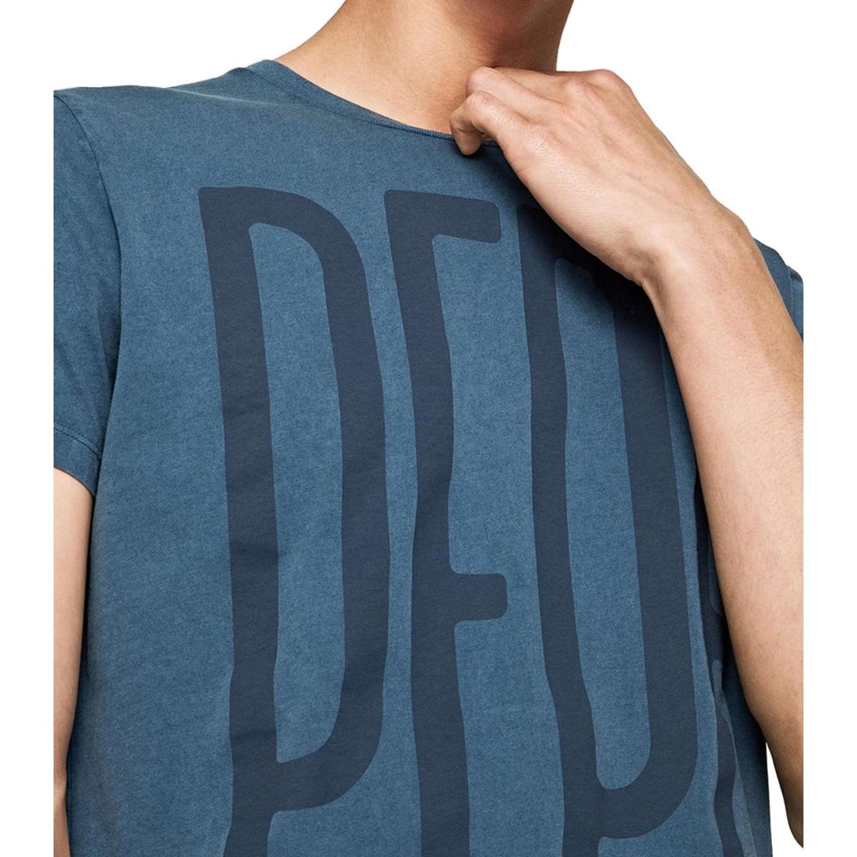 "T-shirt girocollo con stampa logo Pepe Jeans ""Justus"" da uomo rif. PM505966"