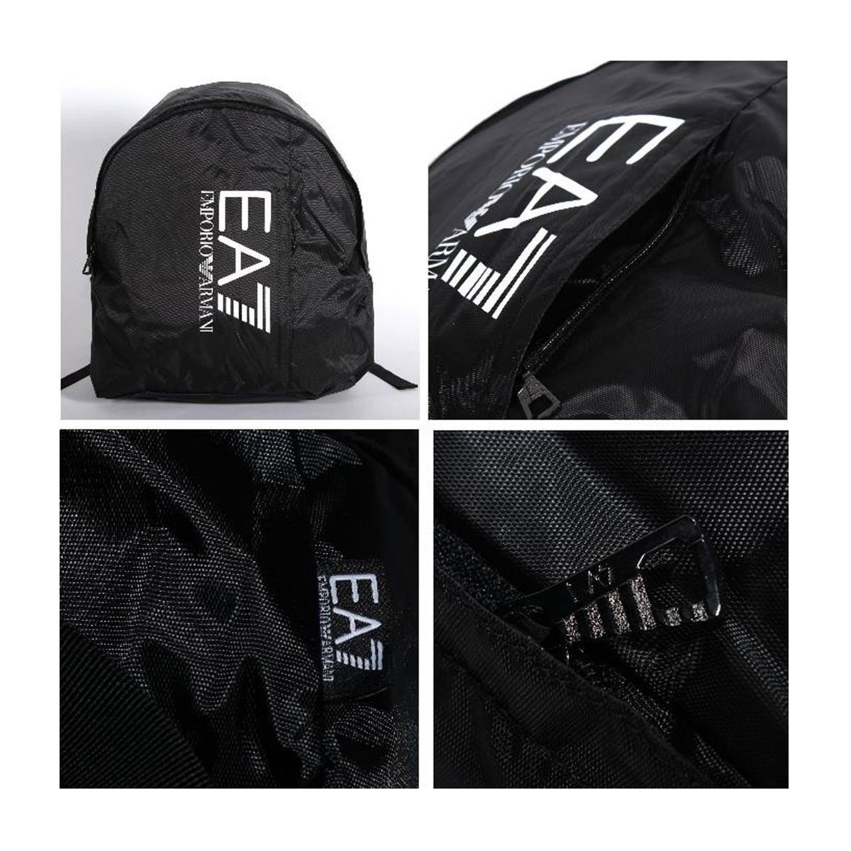 Zaino Emporio Armani EA7 con logo nero unisex rif. 275667 CC733 00020