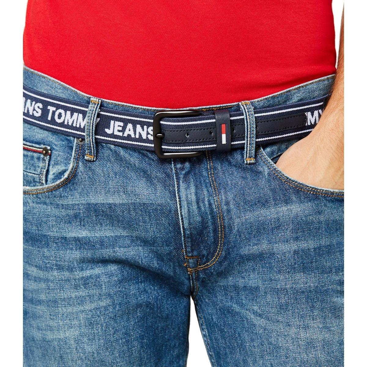 Cintura Tommy Jeans Logo Elastic Belt da uomo rif. AM0AM04108