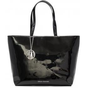 Borsa Armani Exchange Shopping Bag in vernice da donna rif. 942426 CC713