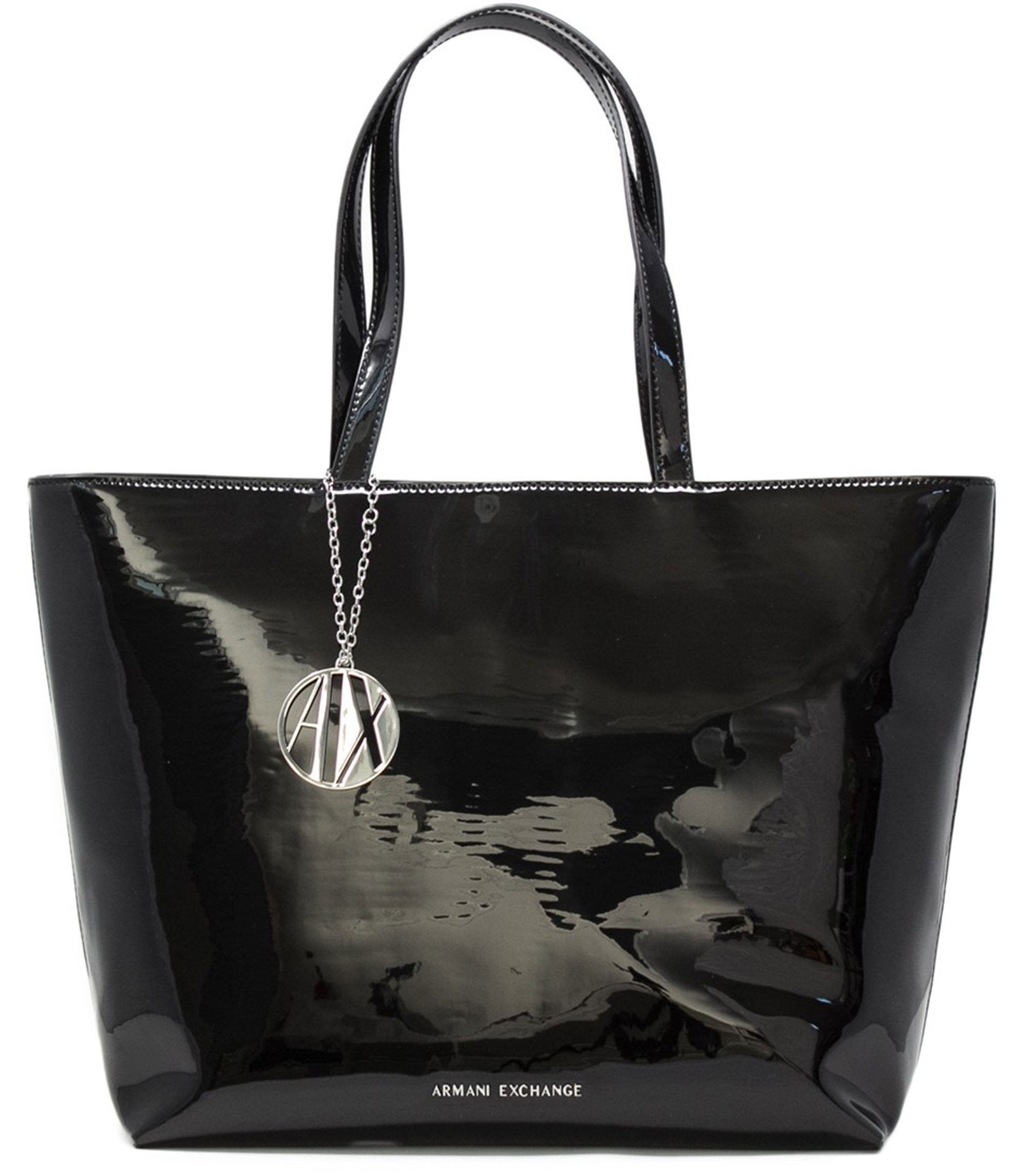 c1ac651605e2c0 Borsa Armani Exchange Shopping Bag in vernice donna rif. 942426 CC713
