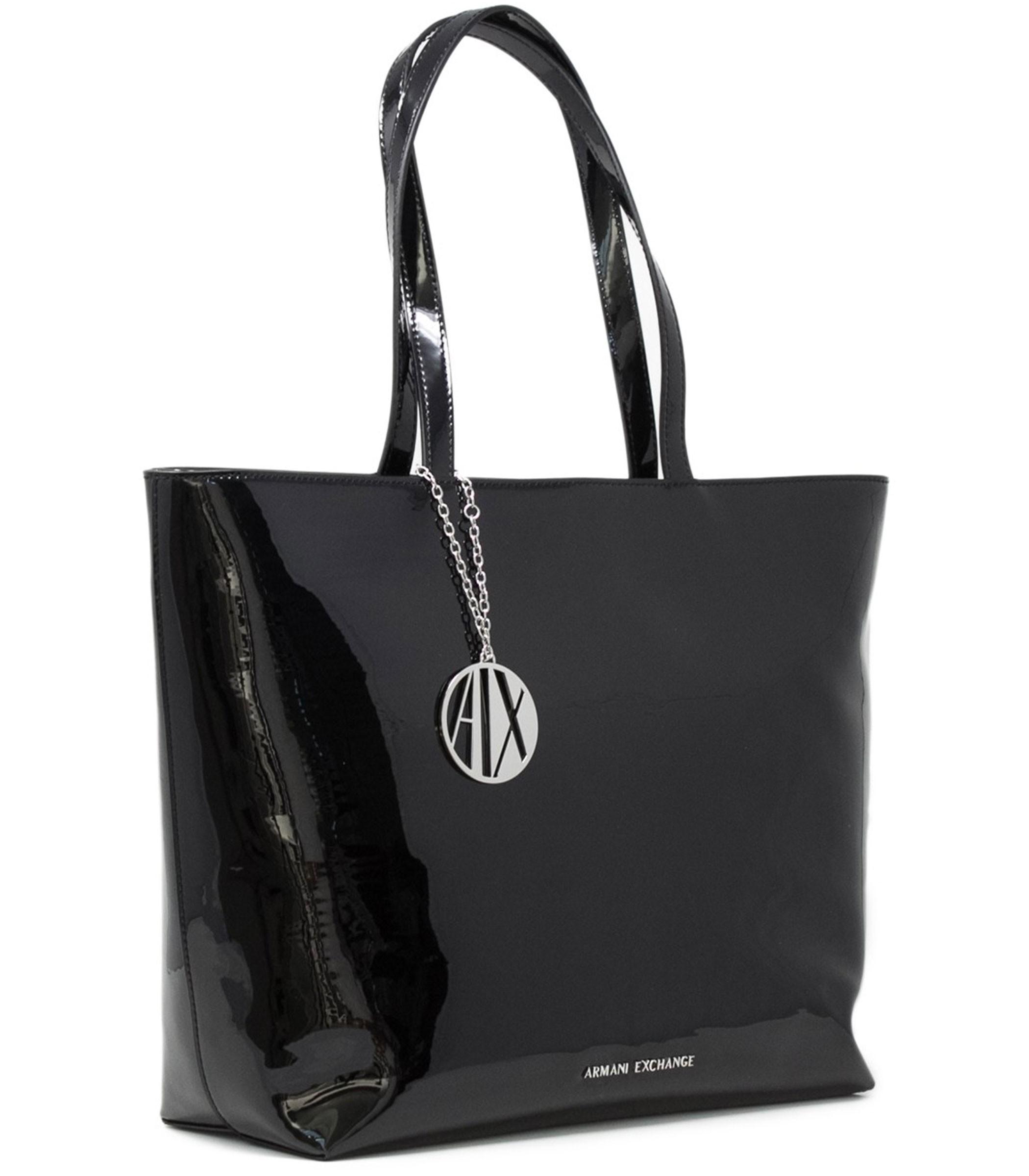 9b55bc9bc4 942426 CC713 Borsa Armani Exchange Shopping Bag in vernice da donna rif.