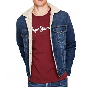"Giubbotto Giacca Pepe Jeans imbottito in tessuto denim ""Pinner DLX"" da uomo Rif. PM401281GC5"