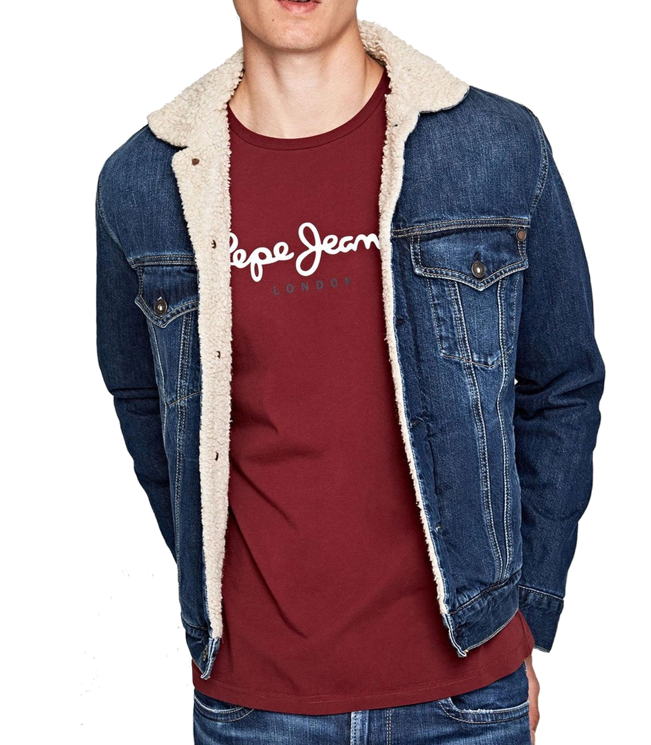 on sale 5d07d 3d151 Giubbotto Giacca Pepe Jeans imbottito in tessuto denim ...