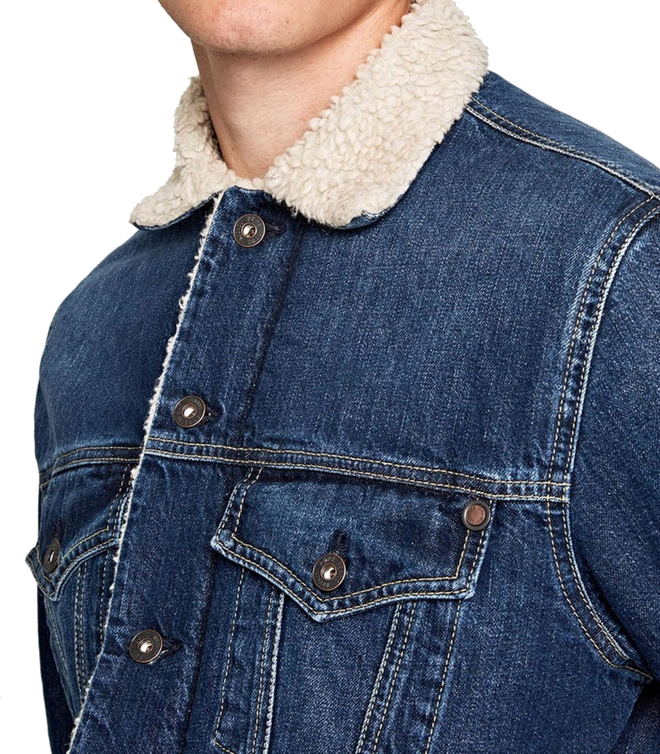 on sale 75ce1 ad1d3 Giubbotto Giacca Pepe Jeans imbottito in tessuto denim ...