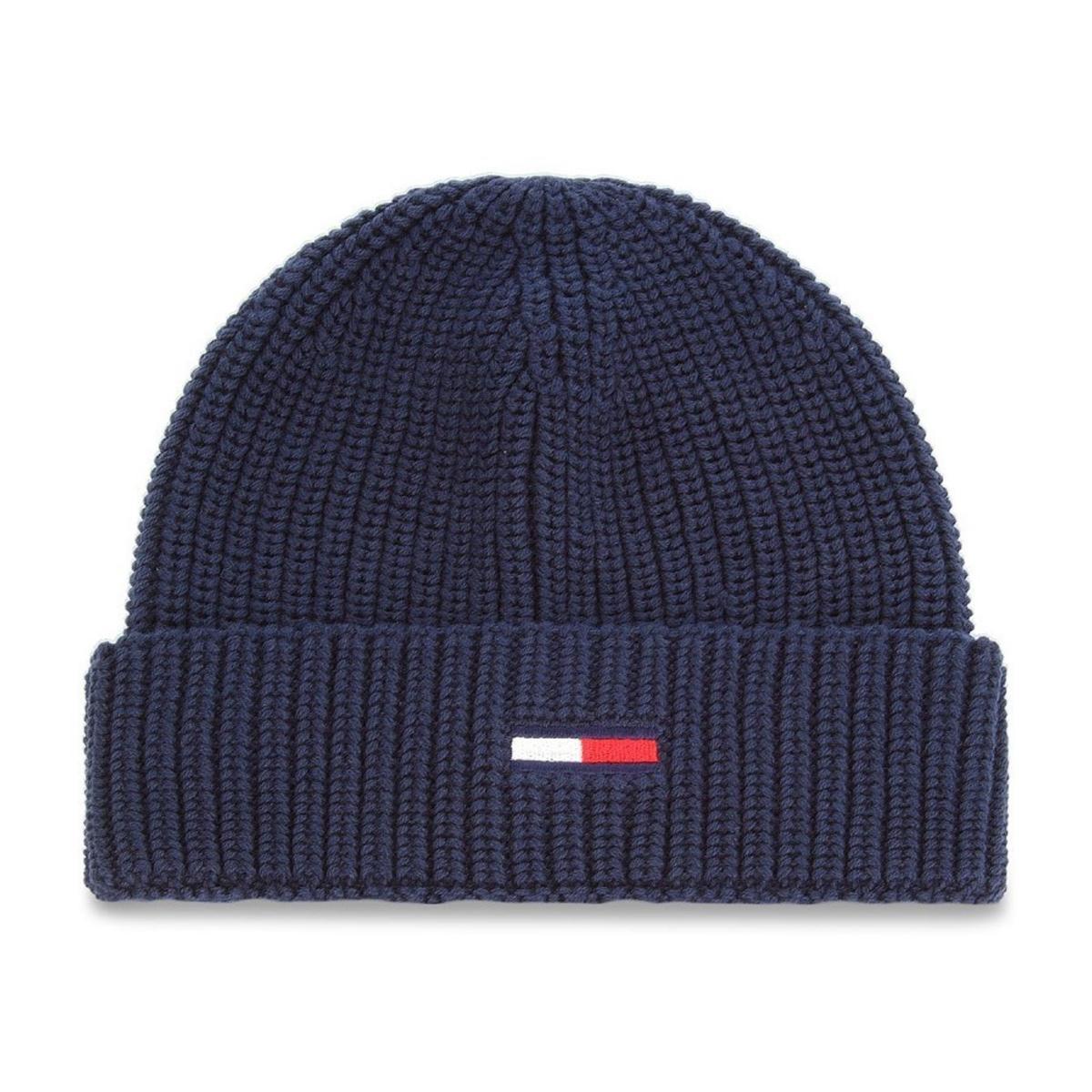 Cappello Beanie Tommy Jeans Tju Basic Rib Beanie con logo unisex rif. AU0AU00300