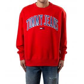 Felpa Tommy Jeans girocollo con stampa da uomo rif. DM0DM06319