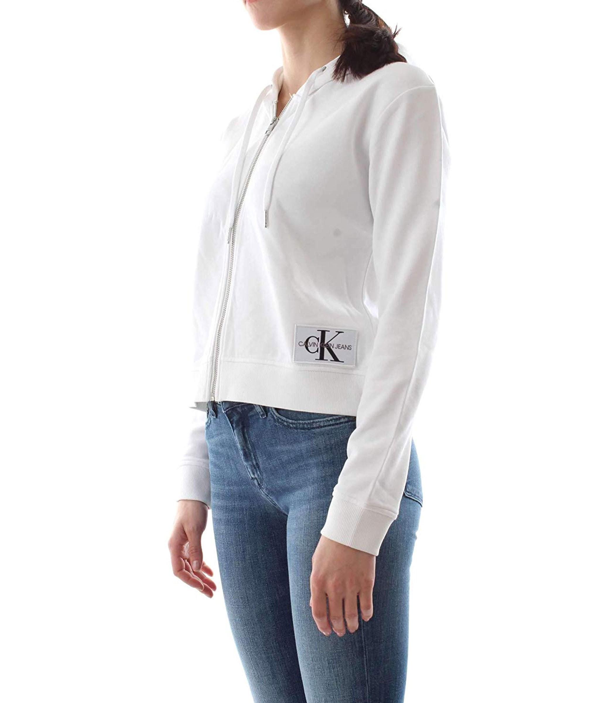 856470abe8241b J20J209559 Felpa Calvin Klein Jeans a sacchetto con cappuccio da donna rif.