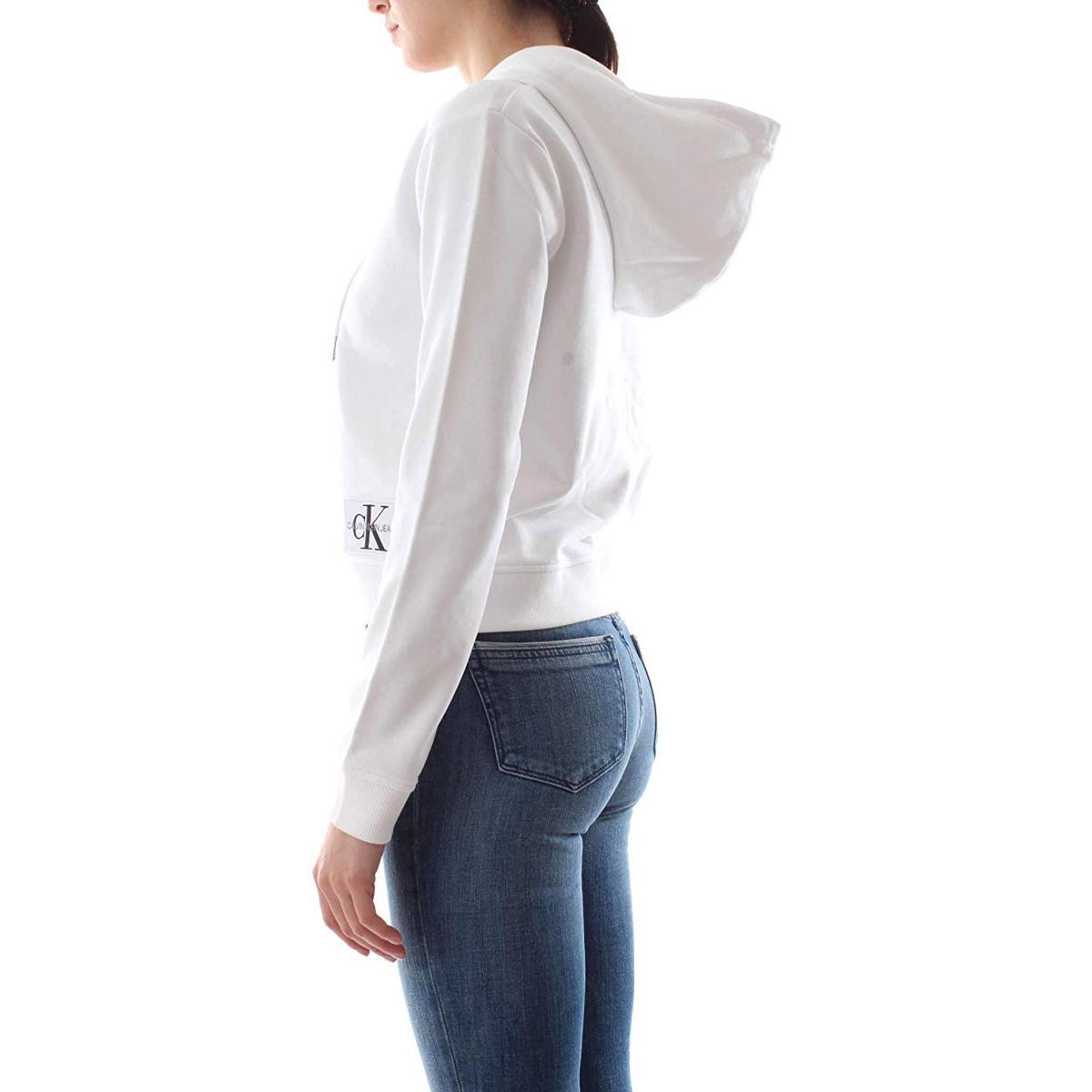 Felpa Calvin Klein Jeans a sacchetto con cappuccio da donna rif. J20J209559