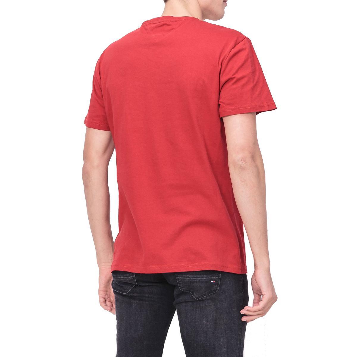T-shirt Tommy Jeans con stampa sul petto da uomo rif. DM0DM05906