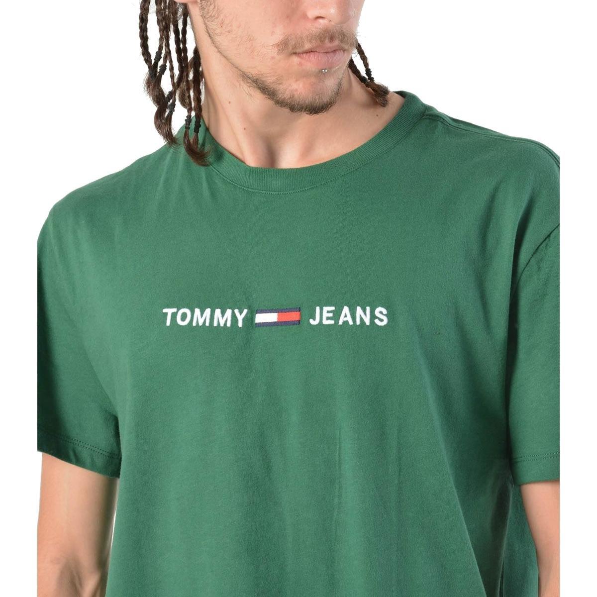 T-shirt Tommy Jeans con logo sul petto da uomo rif. DM0DM05125