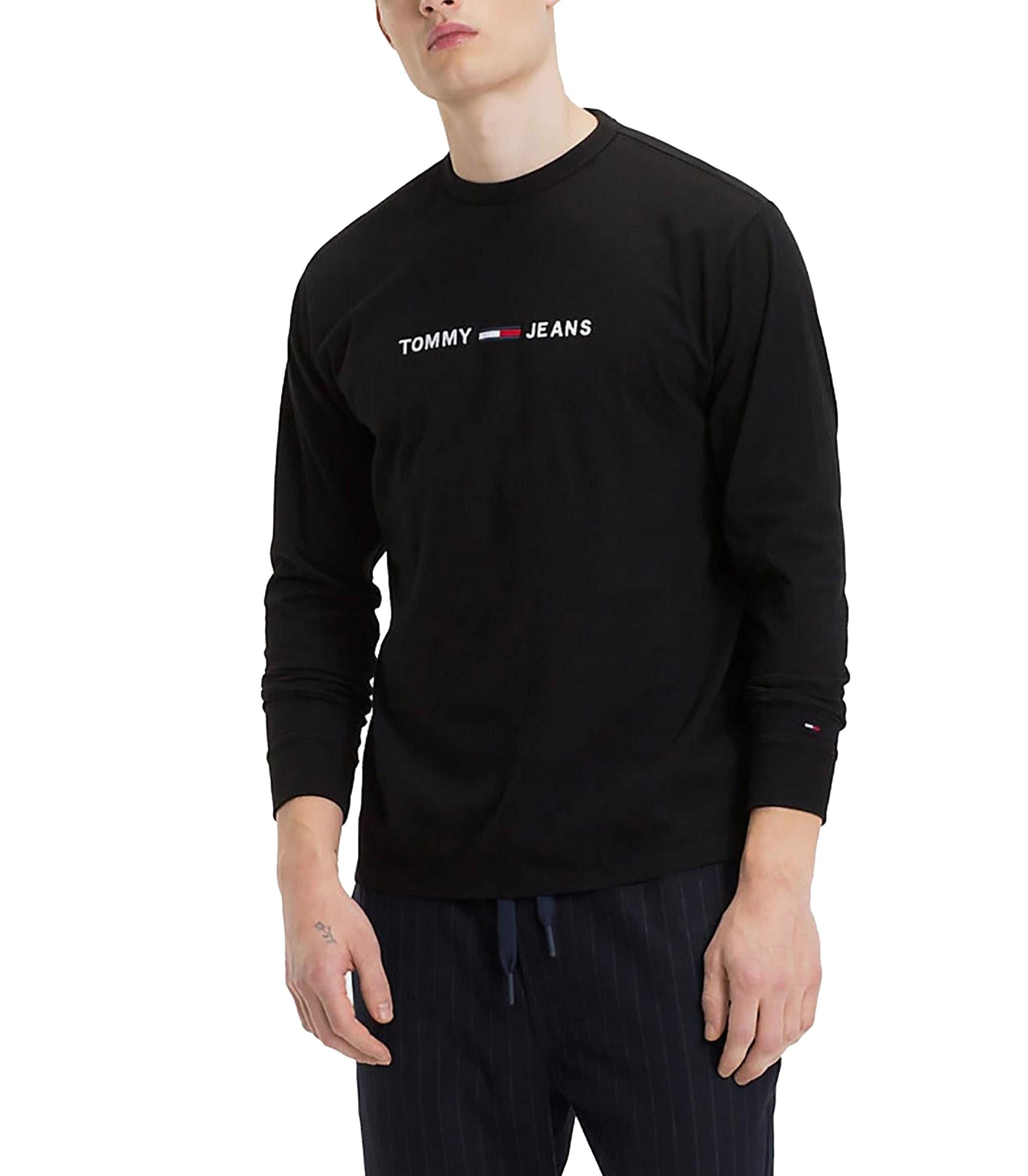 newest ee73b 716ab Maglia Tommy jeans a maniche lunghe con logo da uomo rif ...